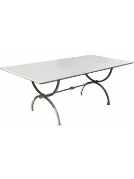 Rectangular forged iron table