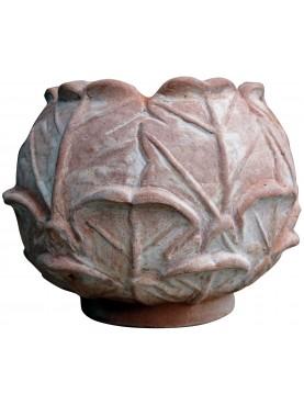 Savoy Cabbage terracotta vase