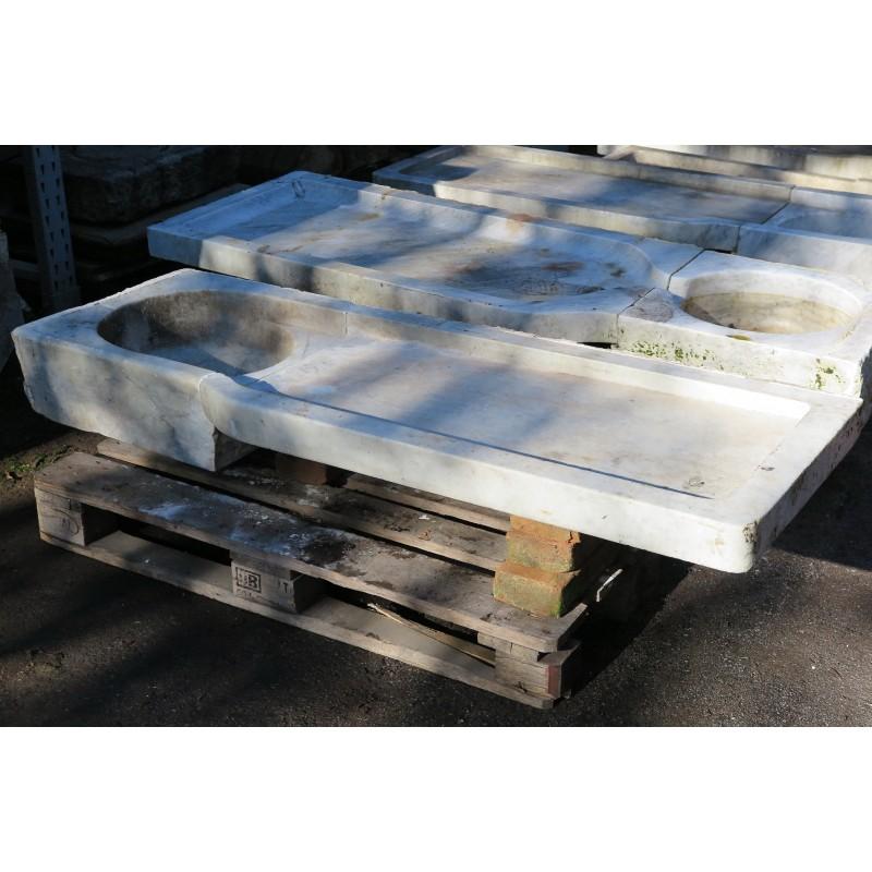 Lavandino Ligure Genovese in marmo con gocciolatoio - Recuperando