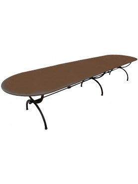 FORGEDIron table 400 X 100 CM Porcinai with THREE LEGS