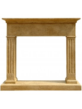 Burgisser Fireplace in limestone - CDB