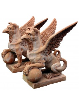 Large Terracotta Griffon