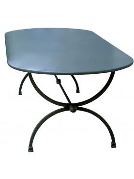 Tavolo in ferro 210 X 100 CM Porcinai a centine