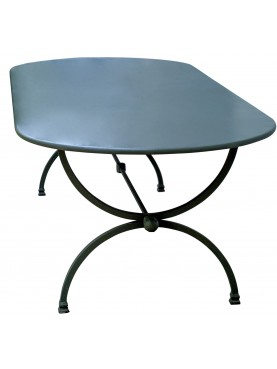 Wrought iron table 210 X 100 CM Porcinai