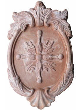 Terracotta Coat of arms with Avellana cross