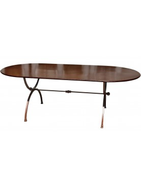 Table in iron 280 x 100 cm two legs