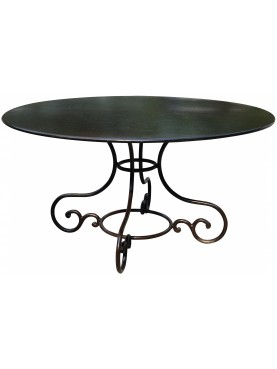 Round table Ø145cms forged irond four legs