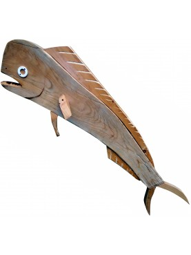 Dolphin fish Beppe Chiesa wood and plastic