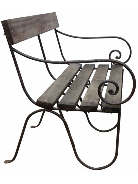 Divan Benche wrought iron and wood