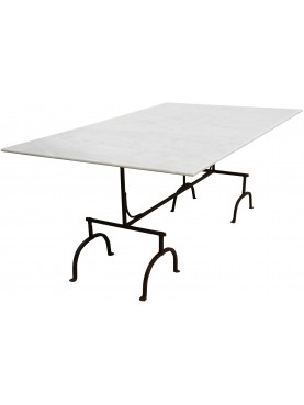 Forged iron and marble table