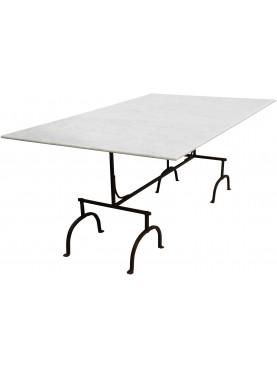Tavolo in marmo 200 CM con cavalletti in ferro