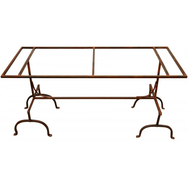 Tavolo in marmo 200 CM con cavalletti in ferro - Recuperando