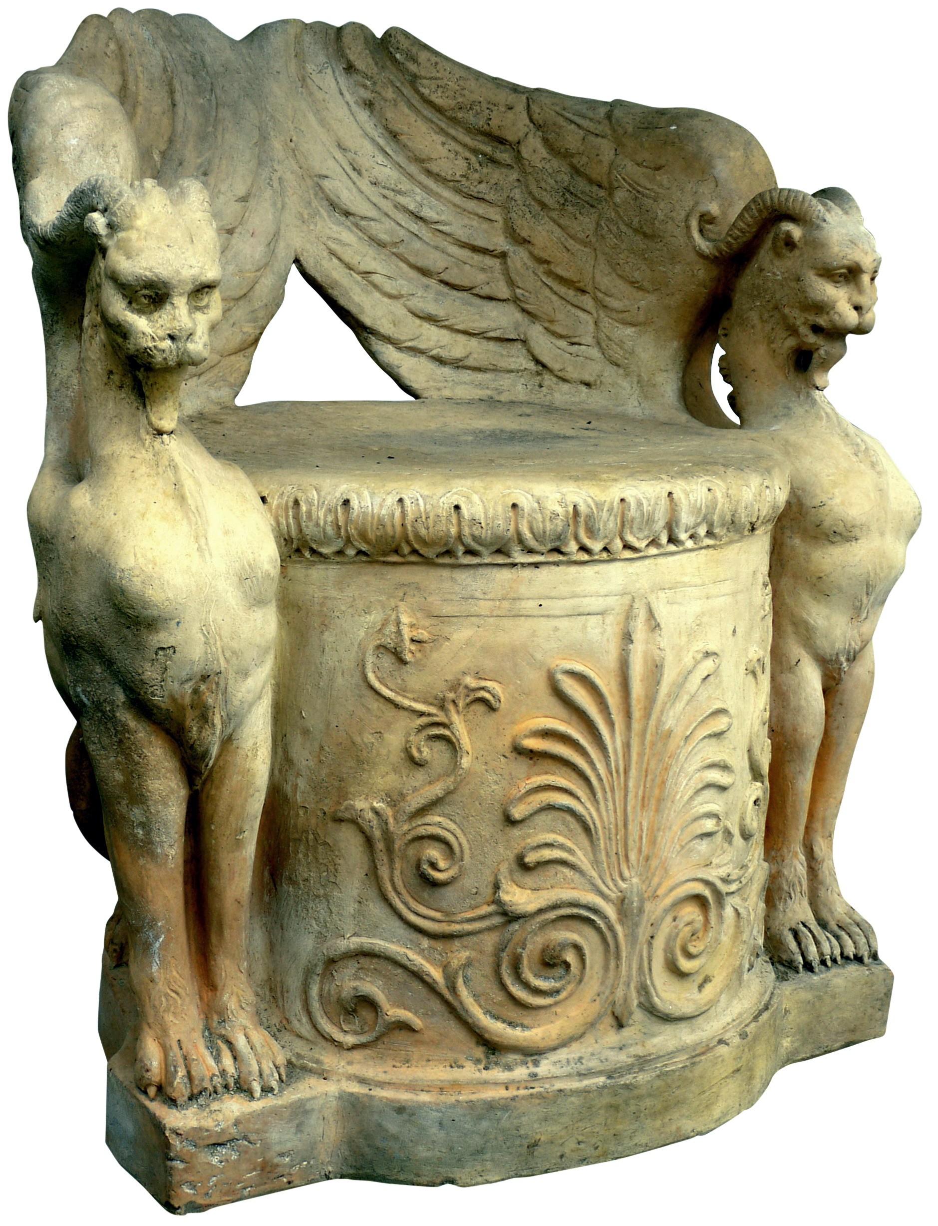 Original ancient terracotta seat By Manifattura di signa Code art.: 5376 ...