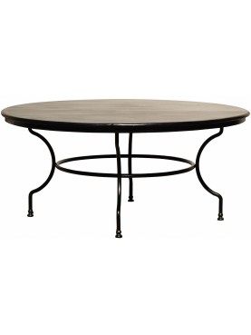 Wrought Iron table Ø165cm