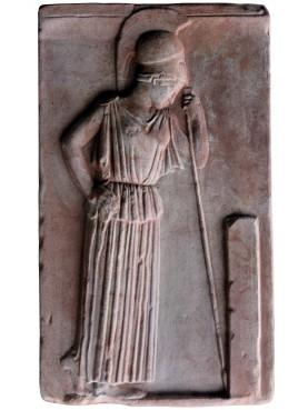 Atena pensante - stele in terracotta