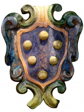 Medici's majolica coat of arms