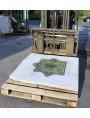 Dimensioni 116 x 116 cm - peso: 282 Kg