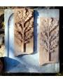 Terracotta bas-relief - Oak branch with acorns