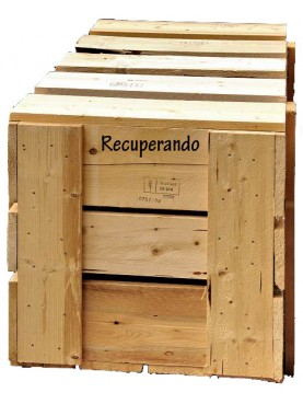 Export Wooden box 150x100xh100 cm