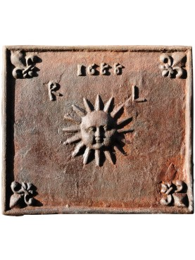 Fireback from Florence dated 1688