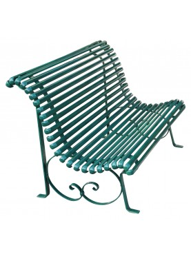 Wrought iron bench - 3 places - very strong
