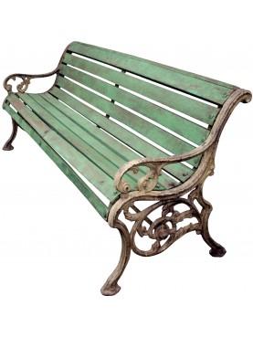 Panchina in Ghisa e legno