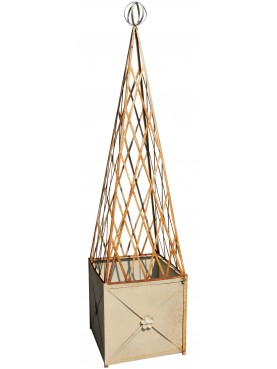 Iron Jardiniere with Pyramid