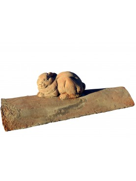 Rabbit on an ancient roof tile