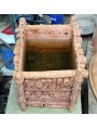 Terracotta box pieces of wood