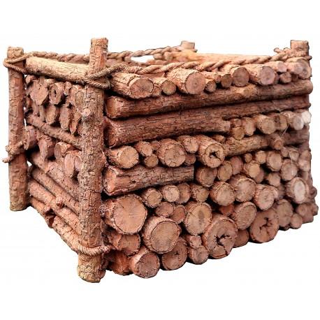 Cassetta tronchetti di legno