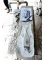 Due triglie su lastra di marmo