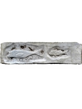 Two Mullets on white Carrara marble slab