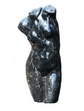 Femal Roman marble bust - black marble