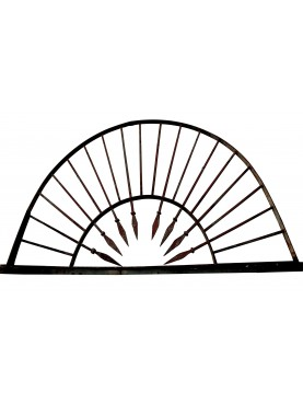 Forged Iron fan window