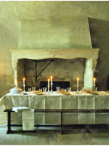 French fireplace - light limestone