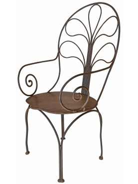 Large armchair - wrought iron