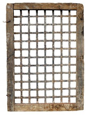 Ancient iron grating from Lucca