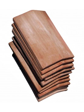 Open Book shaped ridge riles