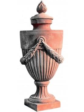Vaso impero da pilastro con fiammella