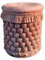Terracotta seat