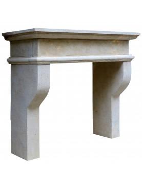 Limestone fireplace Bruni
