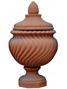 Vaso a torciglione H. 55 cm