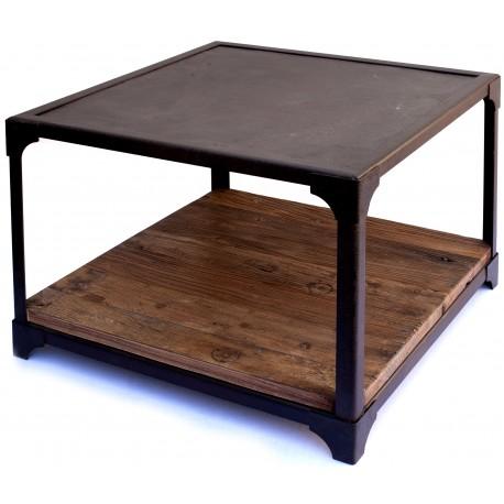 Tavolo minimalista in ferro e legno - Recuperando