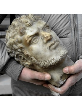 Caracalla marble head