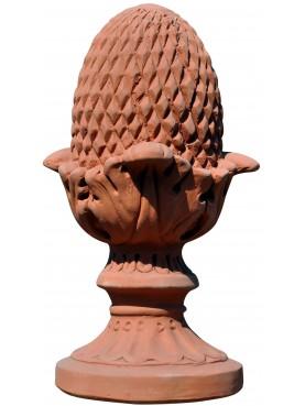 Le pigne del Curti H. 35 cm terracotta