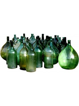 Original ancient wine bottles