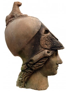 Athena Giustiniani head in terracotta
