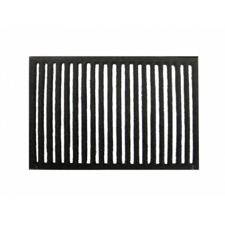 Rectangular cast-iron grid