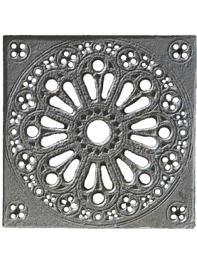 50x50cms Grille from STIBBERT Museum in Florence cast-iron manhole