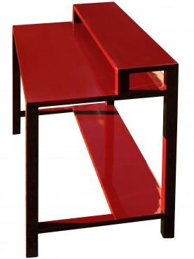 Tavolo per computer in ferro smaltato